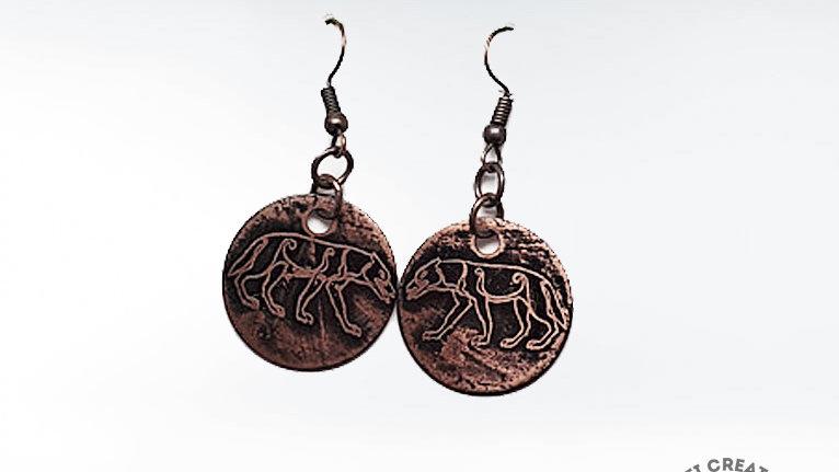 Pict Wolf Earrings