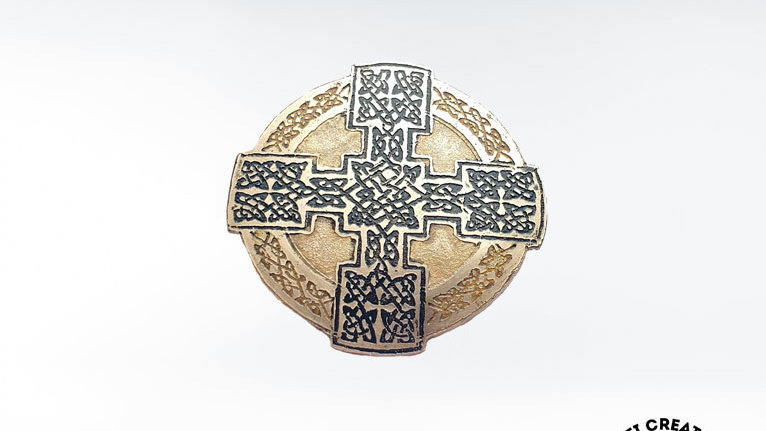 Celtic Even-Armed Cross Brooch