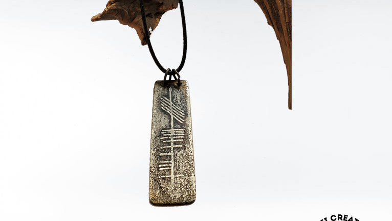 """Ogham """"Father"""" Necklace in Nickel"""