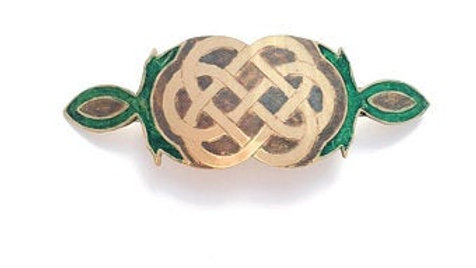 Celtic Barrette - Wedding Knot