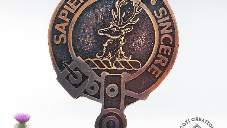 Clan Davidson Badge, Highland Clan, Scottish Clan Pin
