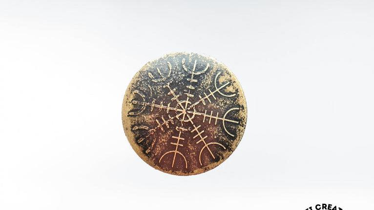 Viking Helm of Awe Brooch