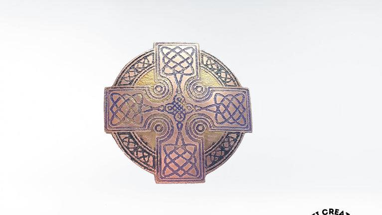 Celtic Even-Armed Cross Brooch