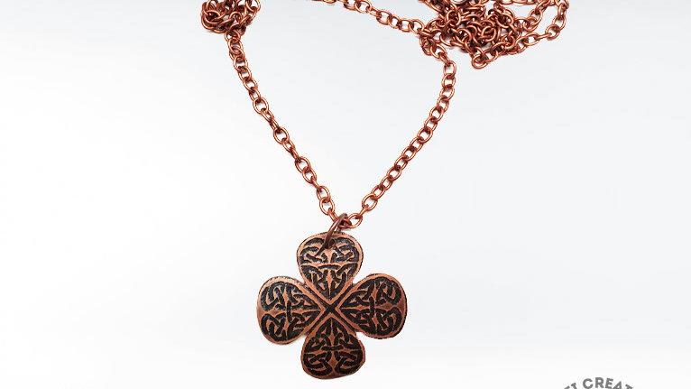 Copper Four Leaf Clover Necklace