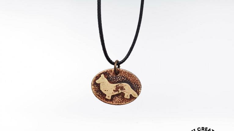 Welsh Corgi Brass Necklace