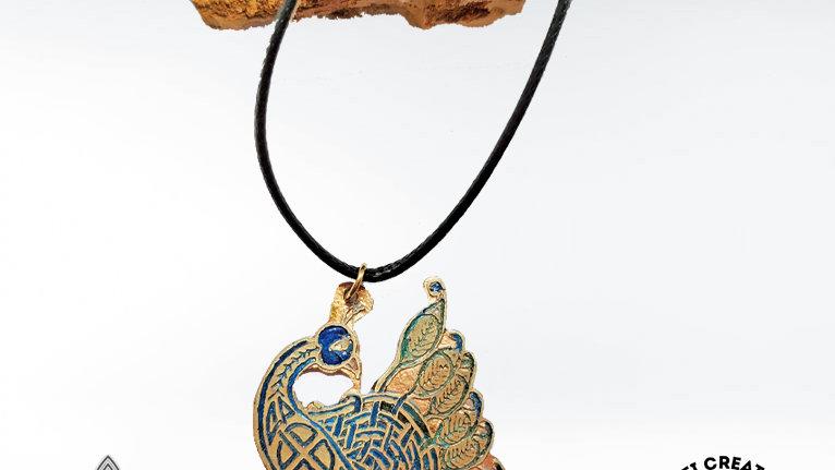 Celtic Peacock Necklace, Peacock Pendant