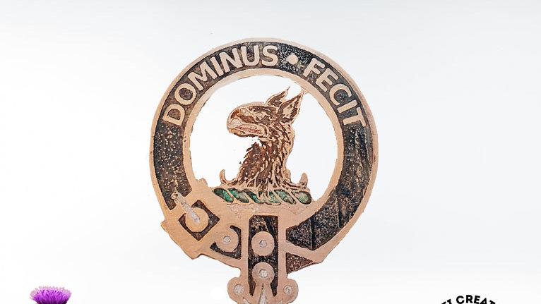 Clan Baird Badge, Hand Painted Clan Badge, Scottish Clan