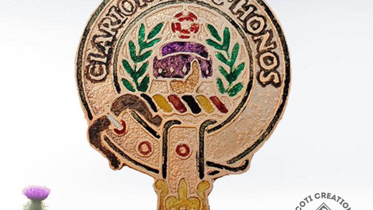 Clan Buchanan Badge, Scottish Clan Buchanan, Highland Clan, Handpainted Badge