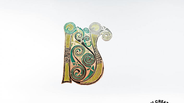 "Celtic Book of Kells ""U"" Brooch"
