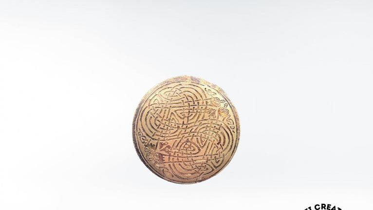CELTIC Shield Knot Brooch, Shield Pin