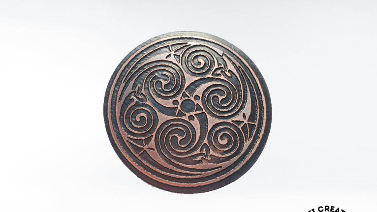 Celtic Triskele Brooch