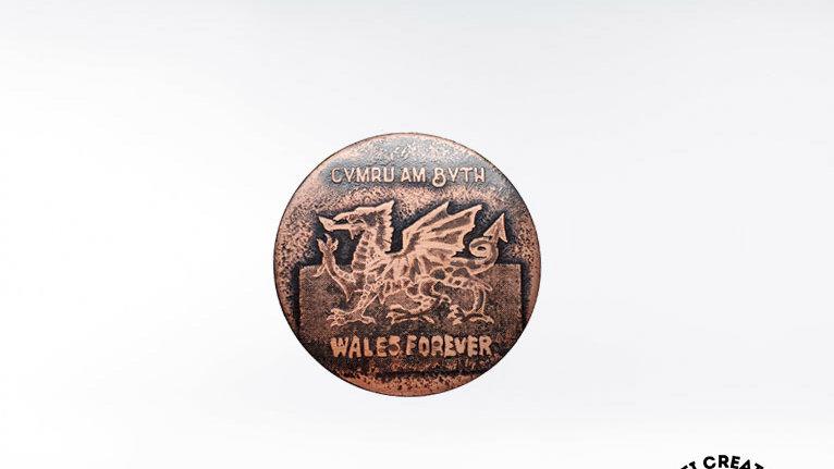 Welsh Dragon  Cymru - Wales Forever Brooch