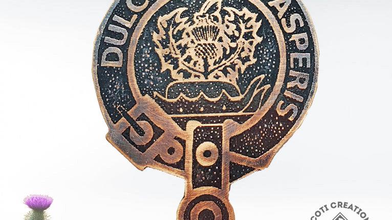 Clan Fergusson Badge, Hand Painted Clan Badge, Clan Ferguson, Scottish C