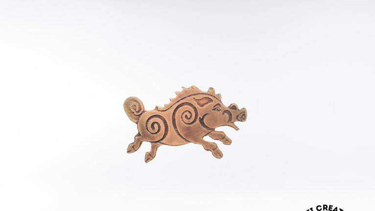 Celtic Boar Brooch, Boar Symbolism, Clan Campbell Figure Pin, Scottish Symbol Br