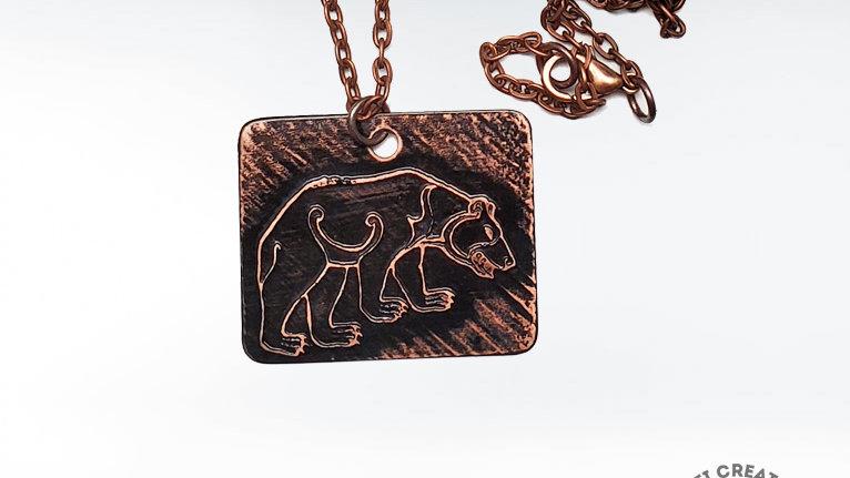 Pict Bear Necklace