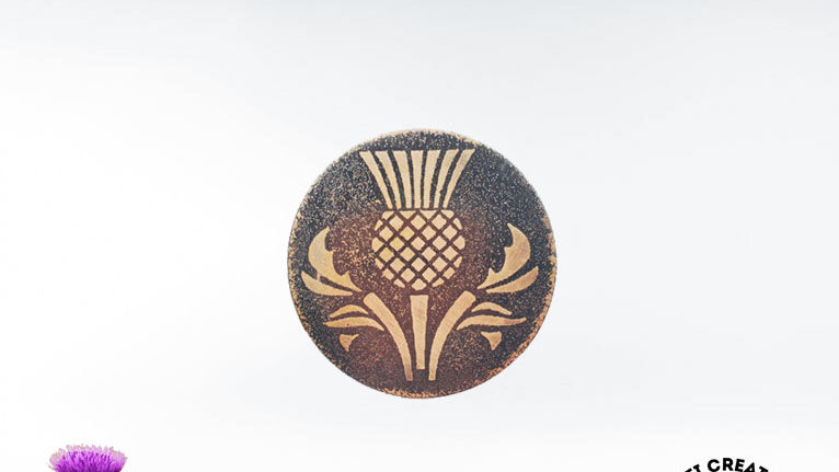Celtic Brooch - Scottish Thistle