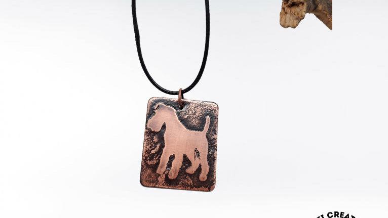 Welsh Terrier Copper Necklace