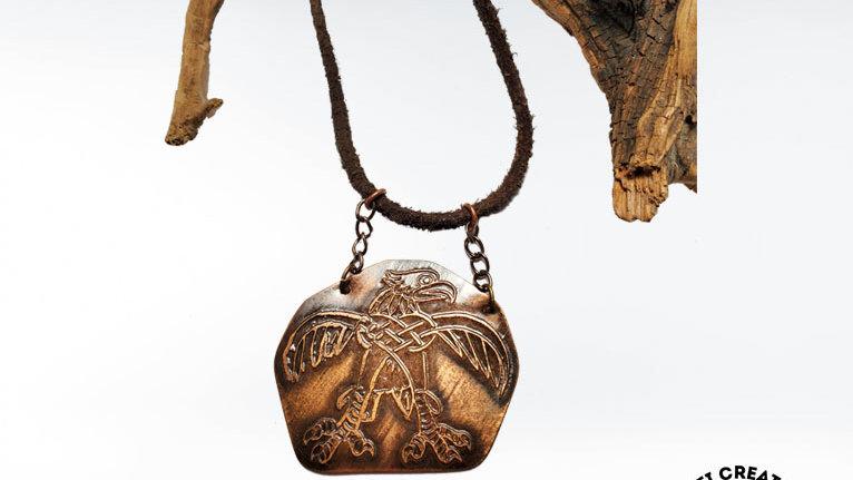 Celtic Eagle Necklace, Copper Eagle Pendant