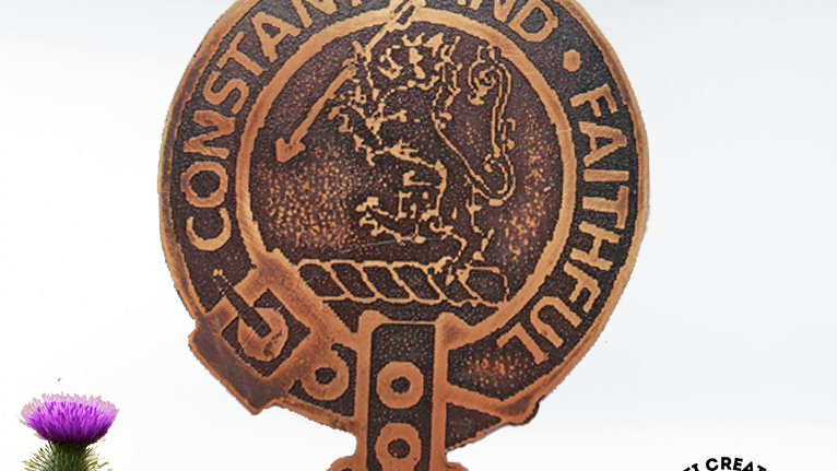 Clan MacQueen Badge, Scottish Highland Clan, Clan McQueen, Clan Chattan