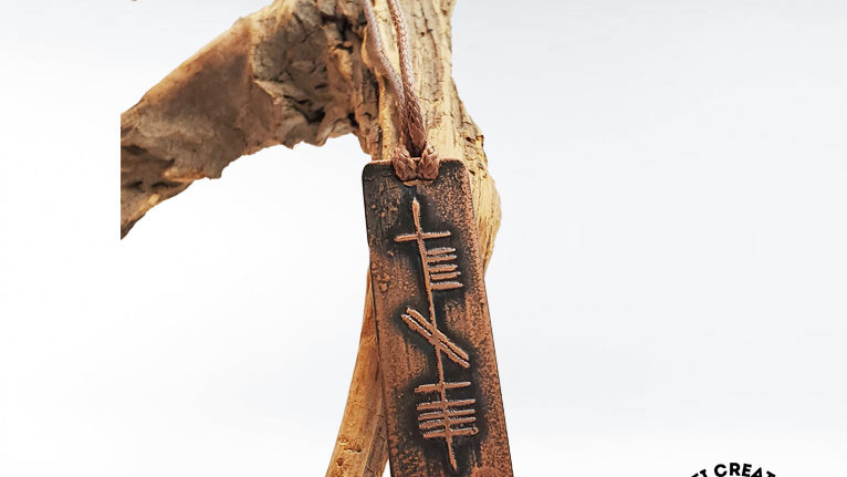 """Ogham """"Wisdom"""" Necklace in Copper"""