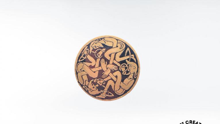 Celtic Book of Kells Figure Brooch