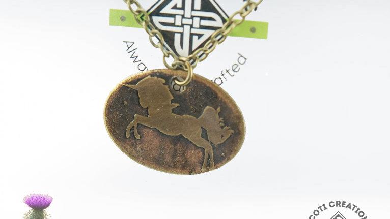 Scotland Unicorn Necklace