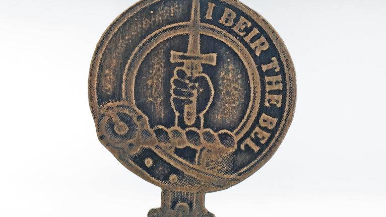 Clan Bell Badge, Scottish Border Clan, Border Reivers