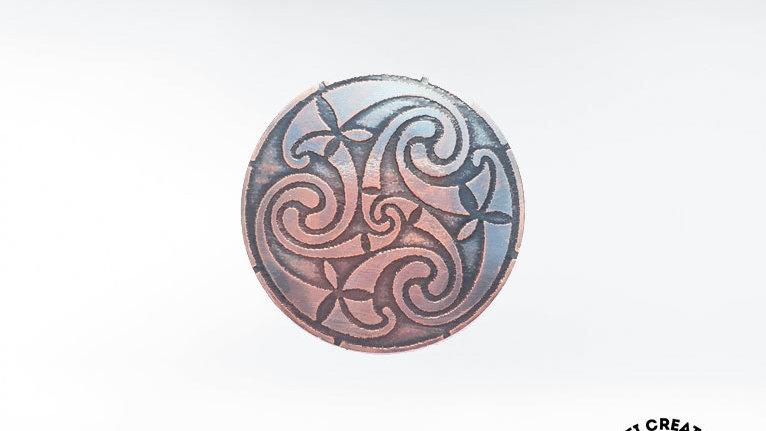"Celtic Triskele Brooch, Triskelion Brooch, Celtic ""Le Tene"" Symbol Brooch, Iri"