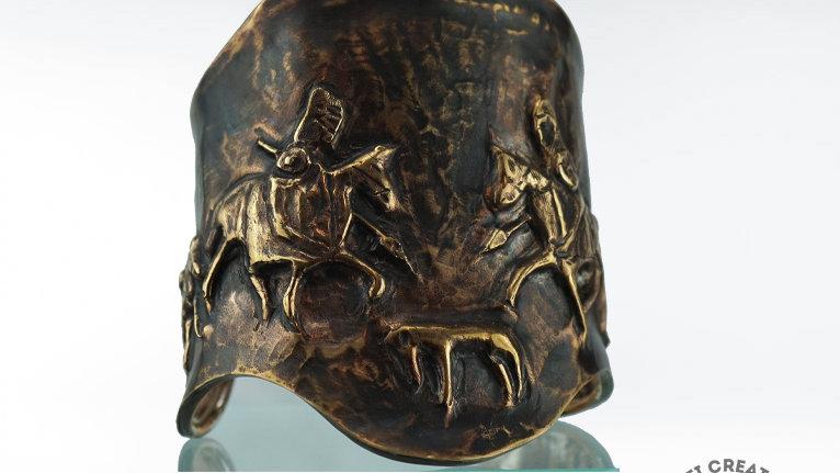 Pict Hunters Cuff in Brass