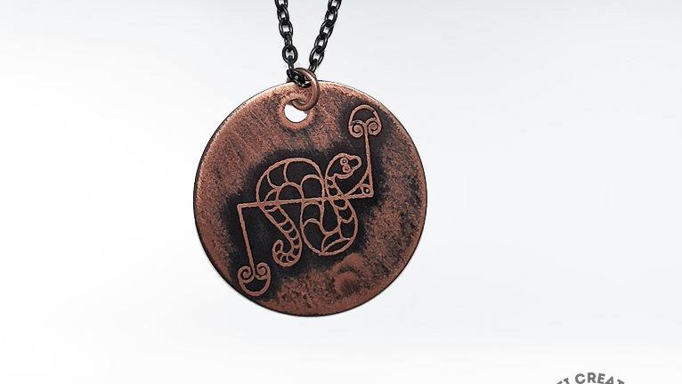 Pict Snake Necklace, Snake Pendant
