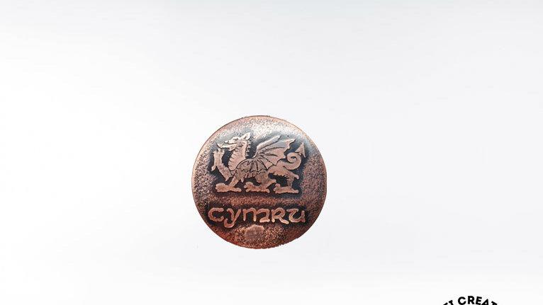 Welsh Dragon  Cymru Brooch -small