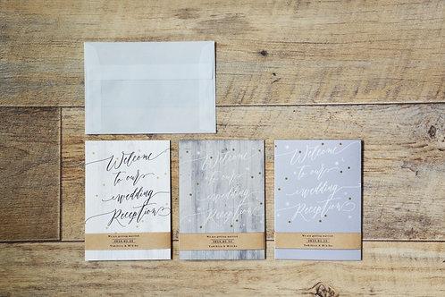 シャビーウッドの招待状 3点セット(10枚)