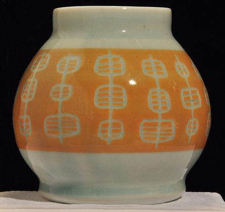 Mod Orange Vase