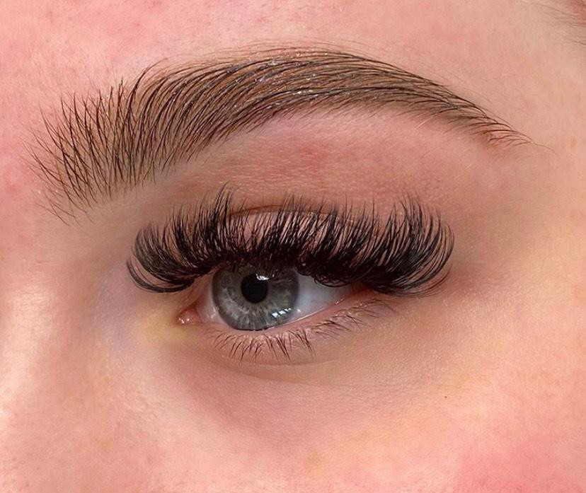 Russian Lashes and Henna Brows