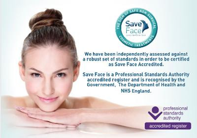 We are Save Face Accredited...