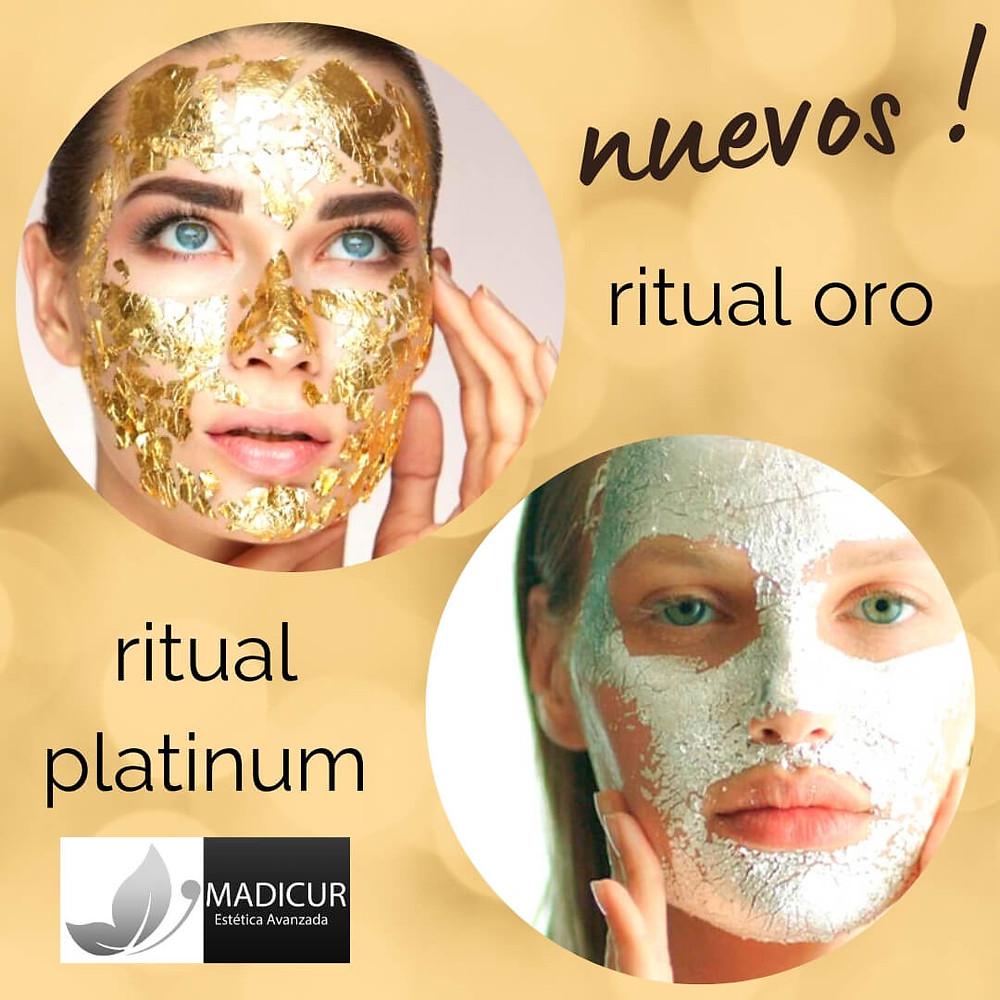 tratamiento facial oro y plantino en Valladolid