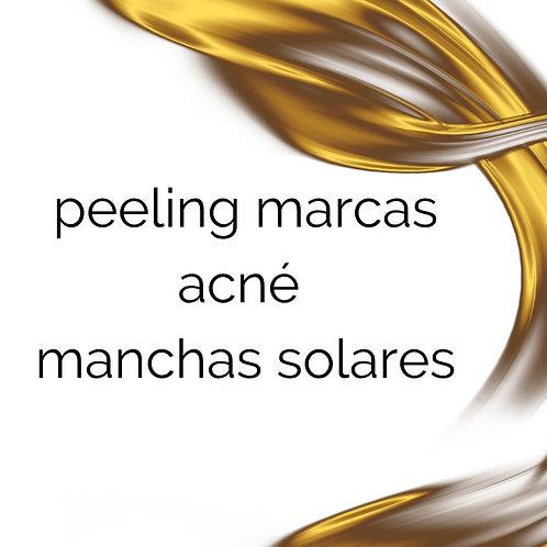 peeling marcas acné y manchas solares