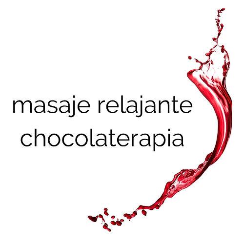 masaje relajante chocolaterapia
