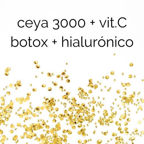 ceya 3000 + ácido hialurónico + vitamina C + botox