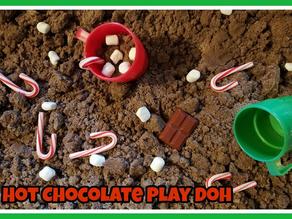 Hot Chocolate Play-Doh Sensory Bin