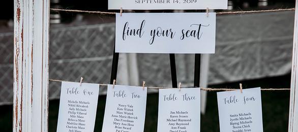 Wood Frame Seating Chart