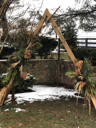 Wooden Diagonal Archway