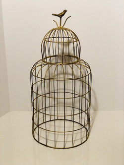 tall gold birdcage