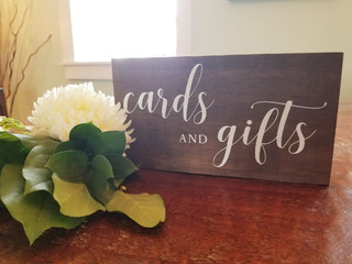 Cards & Gifts Wooden Sign