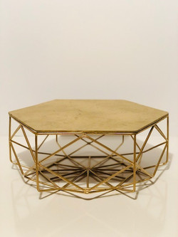 gold geometric cake stand