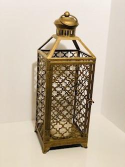 tall gold morrocan lantern