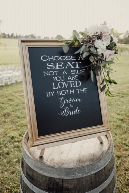 R & S- Ceremony Sign