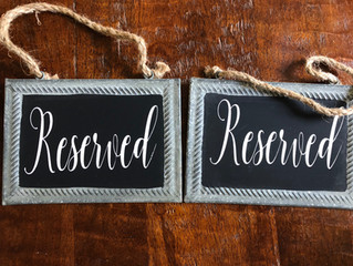 Reserved Chalk Signs