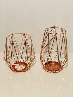 copper geo lanterns