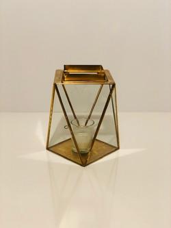 gold geo lanterns